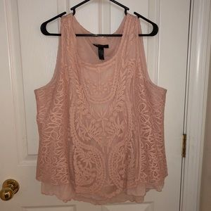 Lacey light pink top